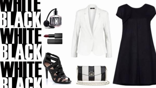 Gotowe stylizacje: Black&White to zawsze jest modne