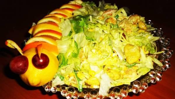 Wasze przepisy: Sałatka curry z mandarynkami (gąsienica)
