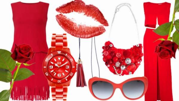 Czerwone ubrania i dodatki na lato