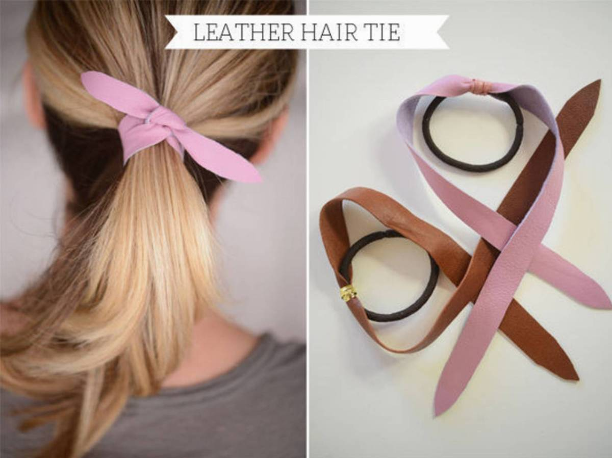 Завязки для волос своими руками