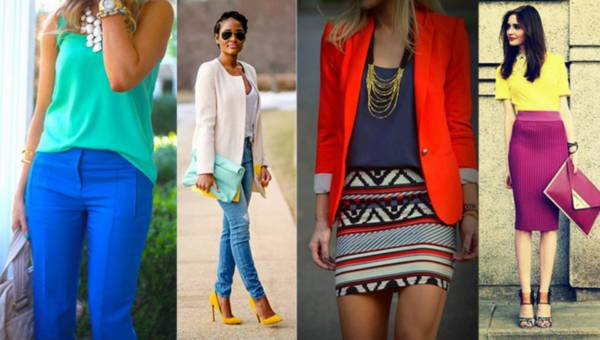 Kolorowe stylizacje na lato 2015