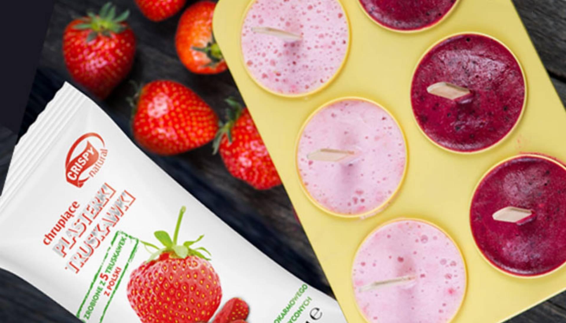 Domowe lody o smaku truskawek