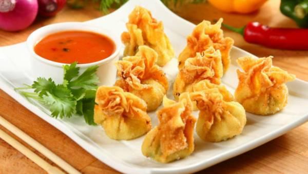 Przepis na: Chińskie sakiewki z kurczakiem