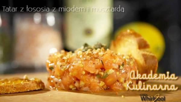 Przepis na: Tatar z łososia z miodem i musztardą