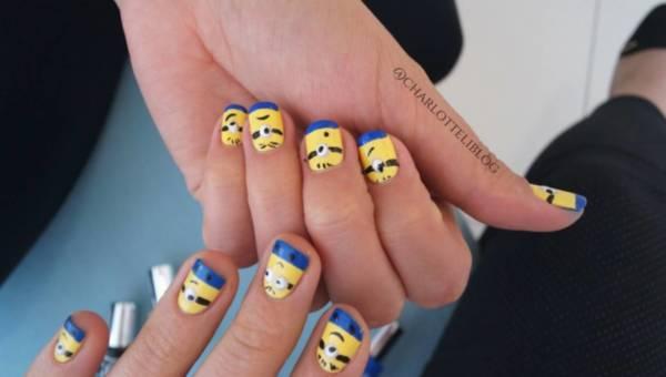 Tutorial: Jak pomalować paznokcie w Minionki