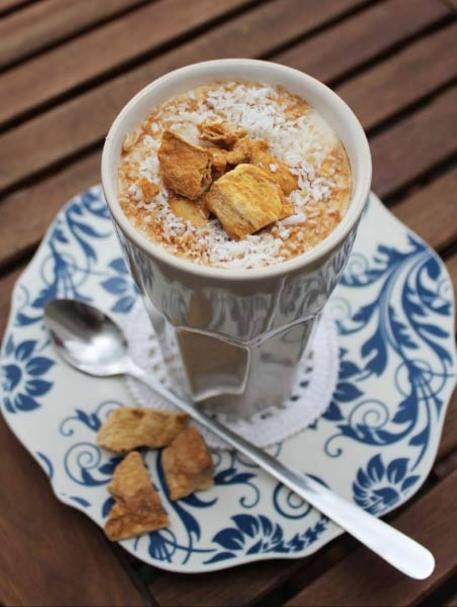 Mrożona kawa z mlekiem sojowym