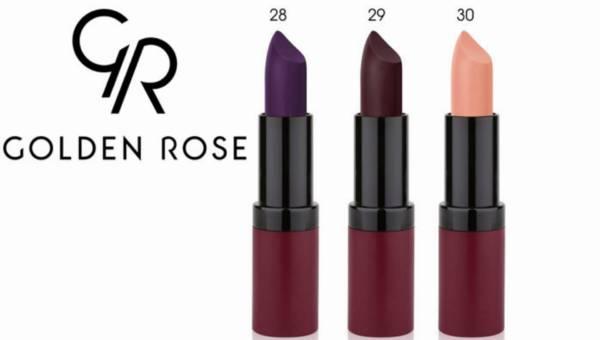 Golden Rose  – nowe kolory pomadek Velvet Matte Lipstick na lato