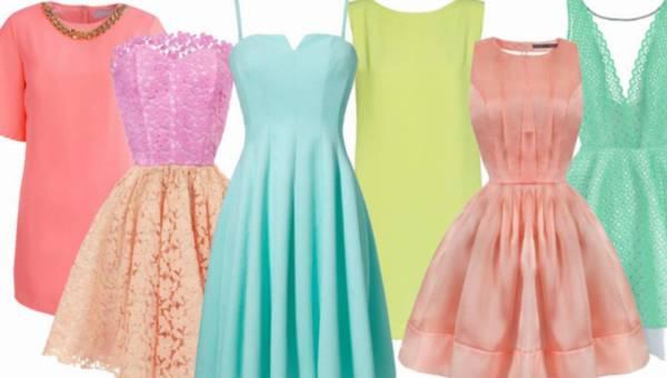 Sukienki na lato 2015 w kolorze pianek marshmallow – przegląd z różnych półek cenowych