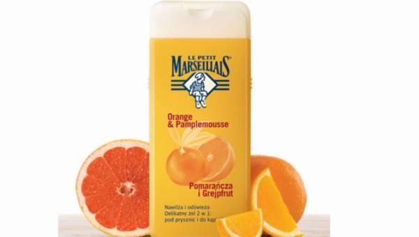 Nowość: LE PETIT MARSEILLAIS Pomarańcza i Grejfrut Delikatny żel 2w1: pod prysznic i do kąpieli