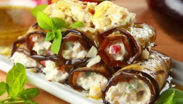 Dla wegetarian: Marynowany bakłażan