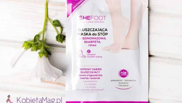 SheFoot – Złuszczająca maska do stóp z jednorazową skarpetą