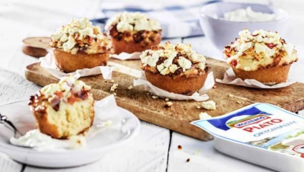 Muffinki z bakłażana z sosem jogurtowym