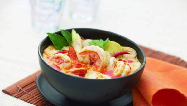 Tom Yum Kung czyli  Ostro-kwaśna zupa z krewetkami