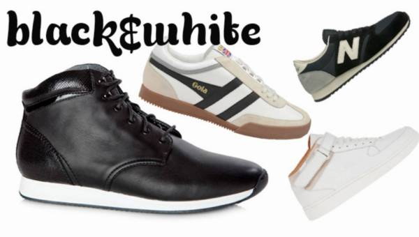 Modne sneakersy 2015 – Black&White