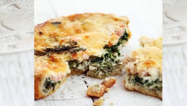 Dla wegetarian: Tarta z fenkułem i łososiem