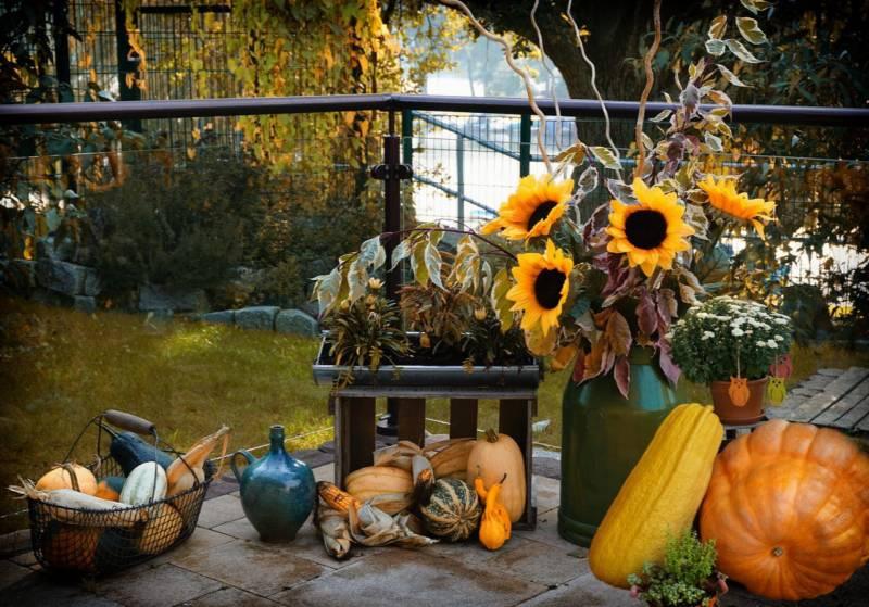 weranda pzystrojona na jesień