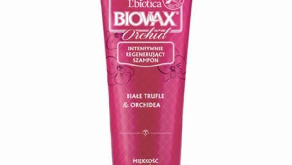 L'biotica Biovax,  Intensywnie regenerujący szampon ORCHID, linia Glamour