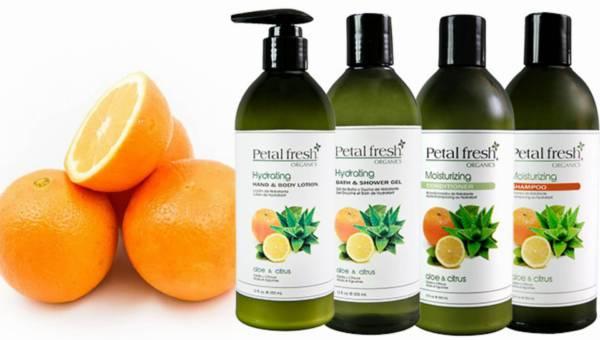 Cytrusowe produkty Petal Fresh do ciała i włosów