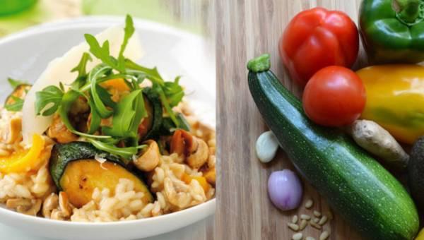 Dla wegetarian: Ristotto z warzywami w marynacie sojowej