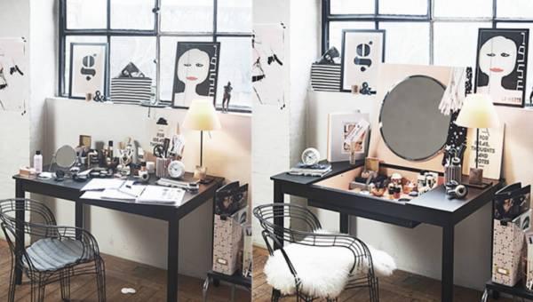 DIY: Zamień stary stół w elegancką toaletkę