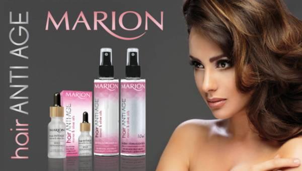 Innowacja: intensywne działanie opóźniające starzenie się włosów Marion Hair Anti-age