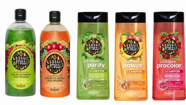 Nowe szampony i olejki z Farmona z serii Tutti Frutti