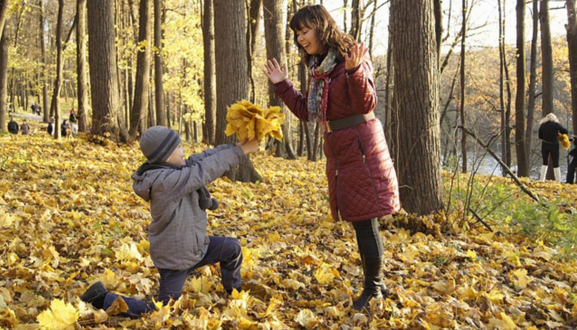 jesień dziecko