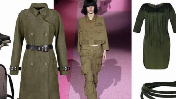Modne stylizacje w stylu militarnym na jesień 2015