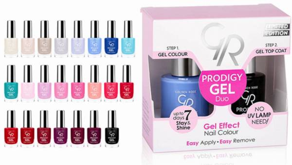 PRODIGY GEL EFFECT DUO NAIL COLOUR  − GOLDEN ROSE