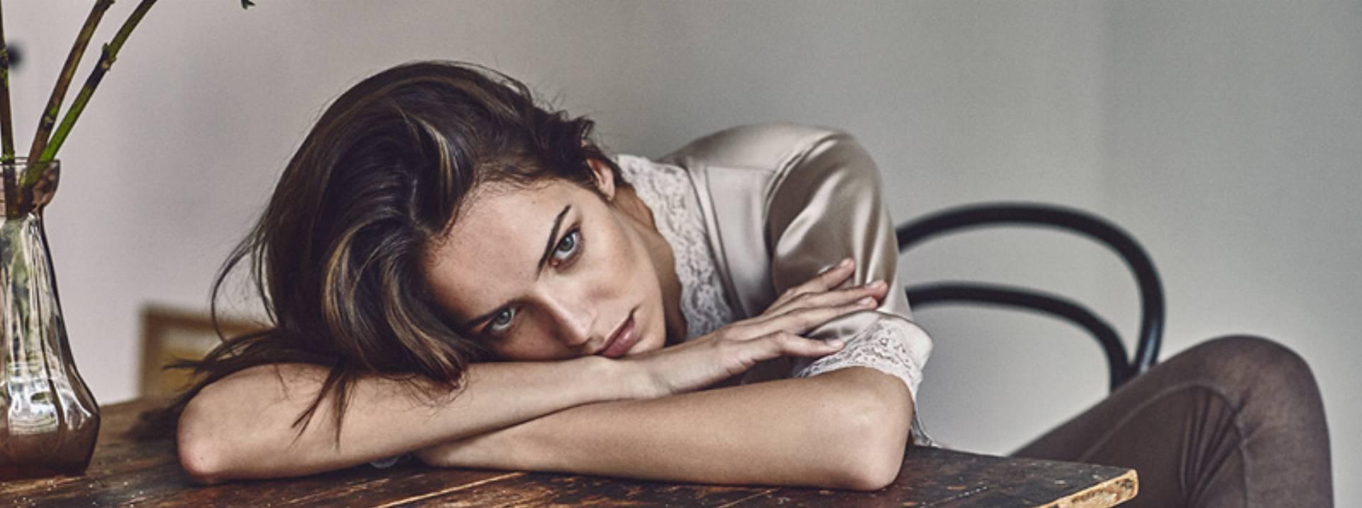 Bielizna nocna z kolekcji Zara zima 2015 2016 log