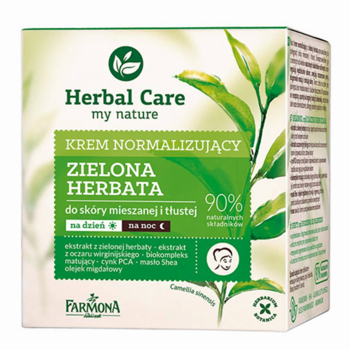 Farmona Herbal Care krem do twarzy - zielona herbata box