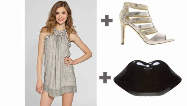 Zakupowe inspiracje – srebrna jedwabna sukienka za imprezę