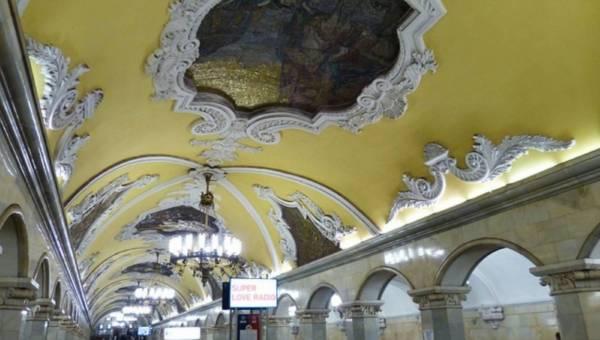 Zapierające dech w piersiach Metro w Moskwie