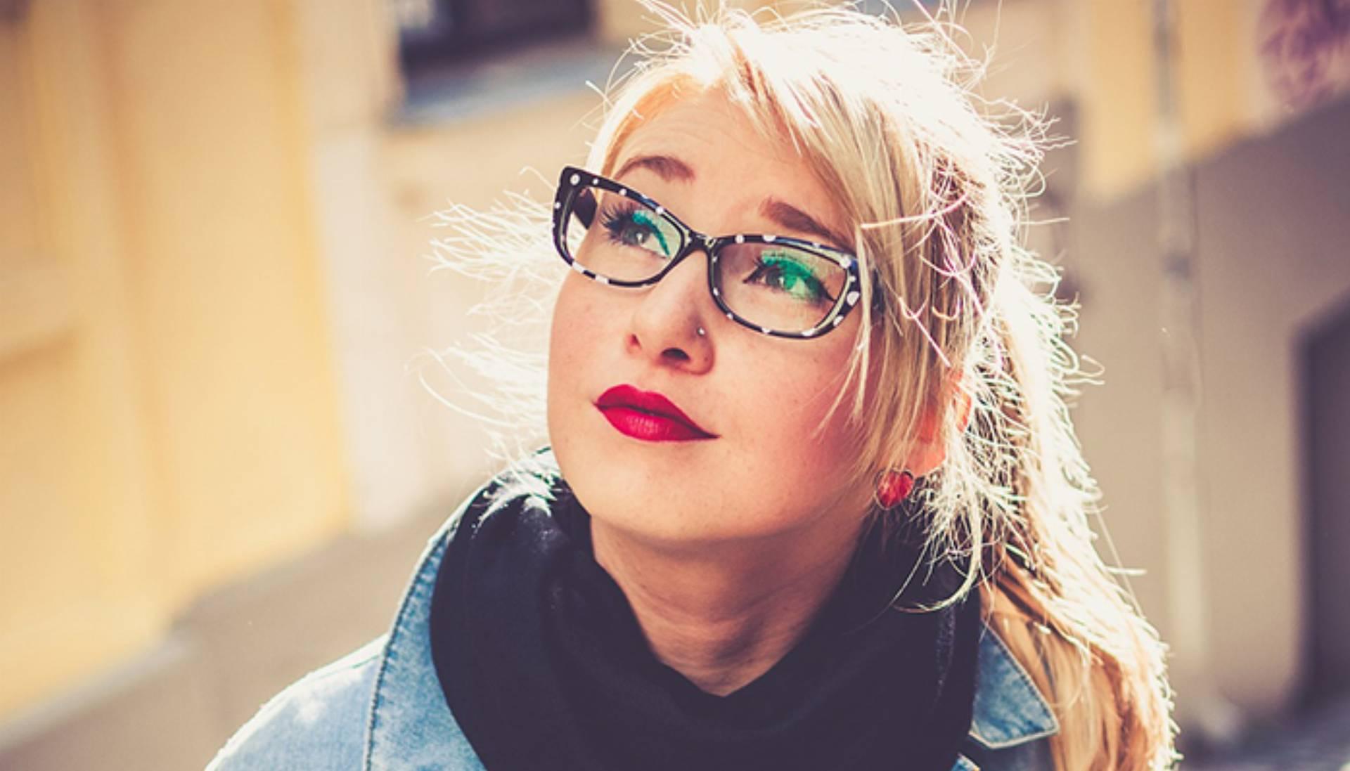 okulary kobieta