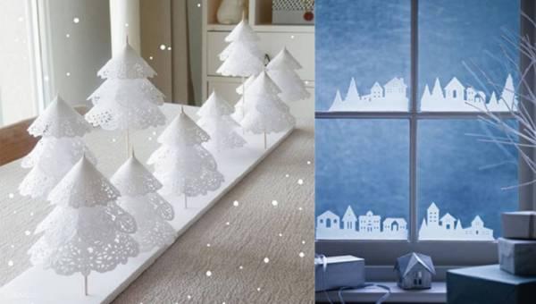 DIY: Papierowe ozdoby świąteczne