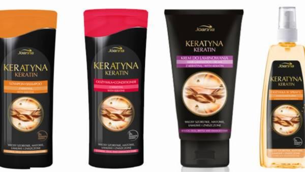 Laboratorium Kosmetyczne Joanna: seria KERATYNA do włosów zniszczonych