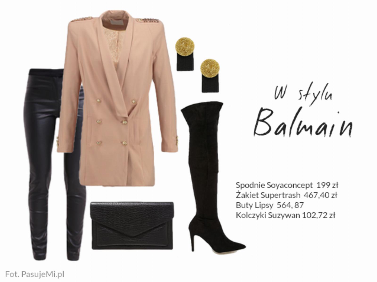 Stylizacje w stylu Balmain