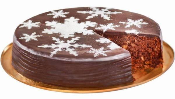 Łatwe świąteczne ciasto podwójnie czekoladowe