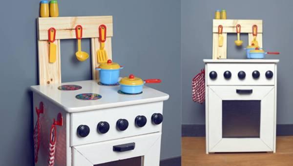 DIY: Drewniana kuchenka – prezent dla dziecka na Święta