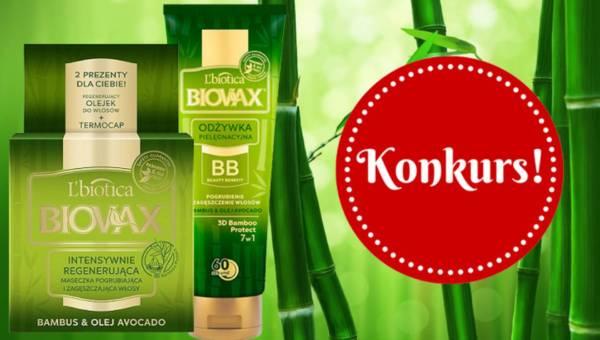 KONKURS: Wygraj kosmetyki do włosów Biovax z linii BAMBUS & OLEJ AVOCADO