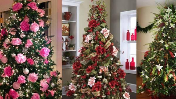 Jak ozdobić choinkę  – oryginalne propozycje na wykorzystanie kwiatów