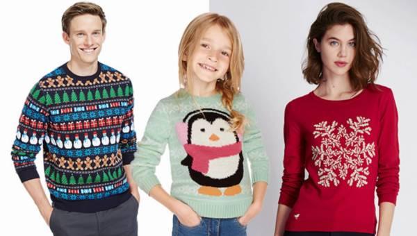 Zabawne, świąteczne swetry Marks & Spencer dla całej rodziny!