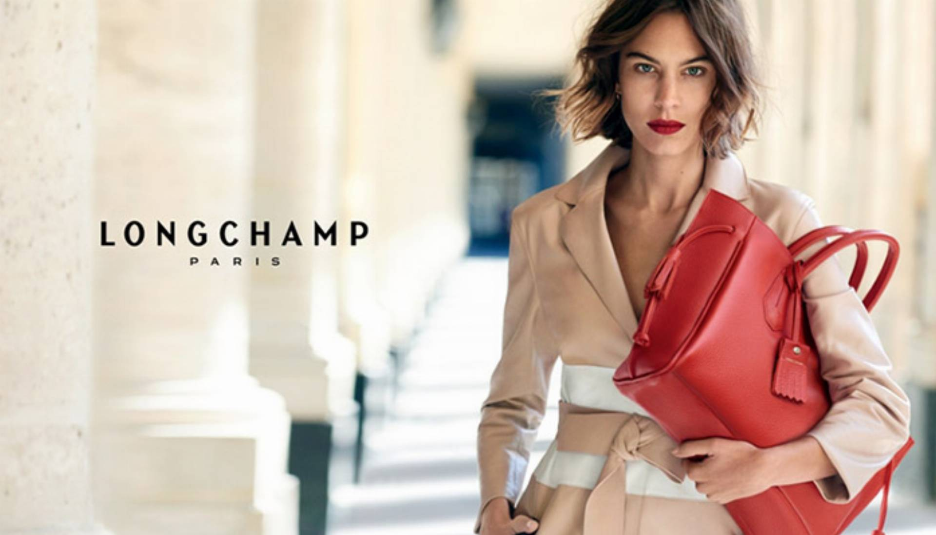 Alexa Chung Longchamp wiosna - lato 2016