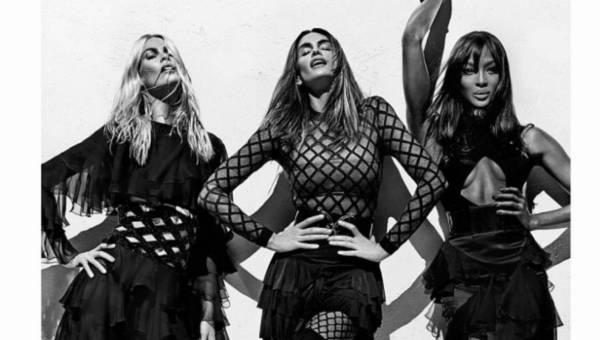 Supermodelki lat 90-tych: Cindy, Naomi, Claudia  – wielki powrót w kampanii Balmain wiosna/lato 2016