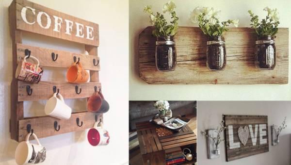 Inspiracje DIY: Meble ze starych palet i skrzynek