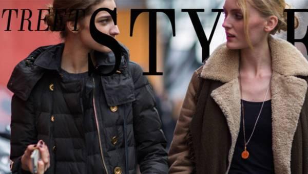 STREET STYLE – modne puchowe kurtki i kożuszki