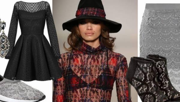Ubrania z koronki – na sportowo, casualowo i elegancko. Propozycje stylizacji