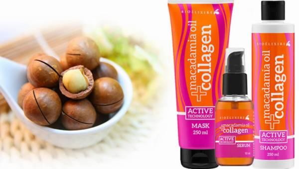 Rewitalizujące kosmetyki do włosów BIOELIXIRE MACADAMIA OIL + COLAGEN