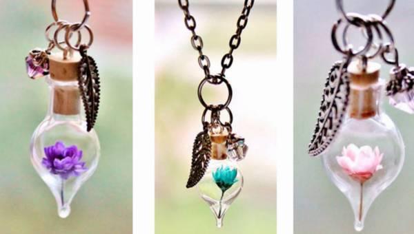 Biżuteria z prawdziwymi kwiatami. Włożyłabyś taką?