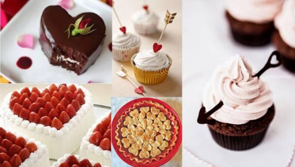 Pomysły jak udekorować ciasta i babeczki na walentynki